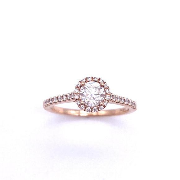 Rose Gold Diamond Engagement Ring A819SY6961001069D4