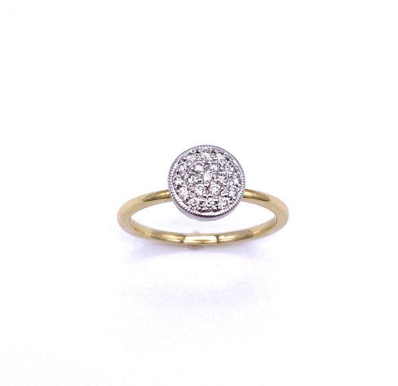 Two Tone Gold Diamond Pave Ring A3172R1898Y211160