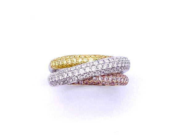 Tri-Color Diamond Ring A093KR22-1