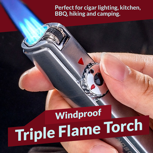 Windproof Triple Flame Torch