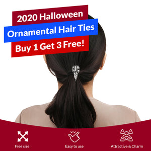 2020 Halloween Ornamental Hair Ties - Buy 1 Get 3 Free!