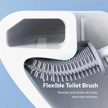 Load image into Gallery viewer, Revolutionary Silicone Flex Toilet Brush With Holder