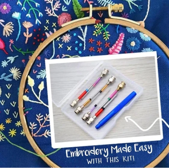 Embroidery Easy-Weave Punch Needles