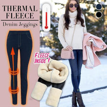 Load image into Gallery viewer, Thermal Fleece Denim Jeggings
