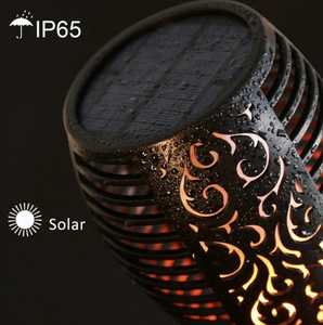 "Solar LED ""Realistic Flame"" Garden Lamps"