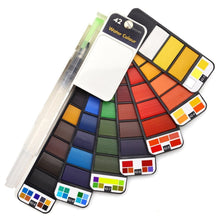 Load image into Gallery viewer, 42 Colors Foldable Watercolor Paint Set