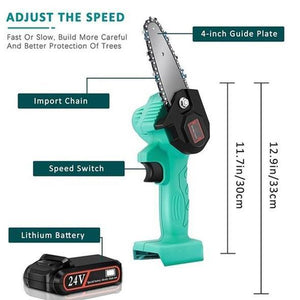 (Christmas Pre-Sale 50% OFF) - Rechargeable MINI  lithium chainsaw