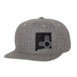 State Zia Flatbill Hat Heather Grey Wool