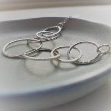 Load image into Gallery viewer, Sterling Silver Seven Ring Interlocking Circle Necklace - Shine On Shop