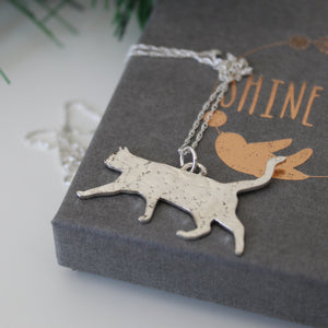 Constellation Cat Necklace in Sterling Silver - Shine On Shop
