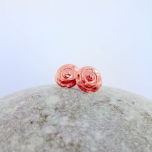 Load image into Gallery viewer, Dainty Copper Flower Studs - Shine On Shop