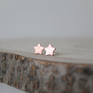 Copper Tiny Star Studs - Shine On Shop