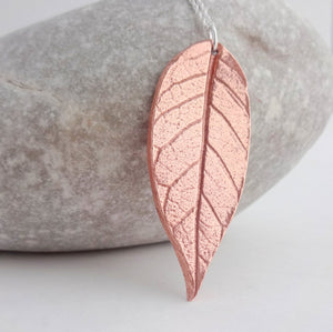 Copper Leaf Necklace - Shine On Shop