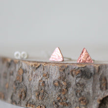 Load image into Gallery viewer, Copper Tiny Triangle Studs - Shine On Shop