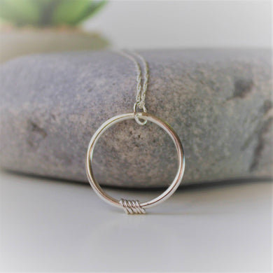 Sterling Silver Orbit Necklace Shine On