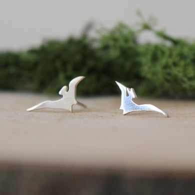 Sterling Silver Pterodactyl Earrings - Shine On Shop