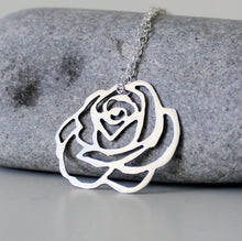 Load image into Gallery viewer, Sterling Silver Rose Necklace - Shine On Shop