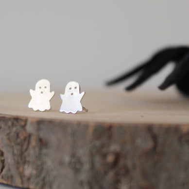 Sterling Silver Ghost Earrings - Shine On Shop