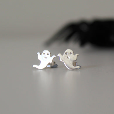 Sterling Silver Ghost Studs - Shine On Shop