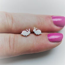 Load image into Gallery viewer, Tiny Sterling Silver Bunny Studs - Shine On Shop
