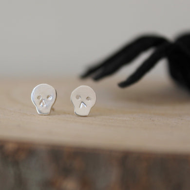 Sterling Silver Skull Earrings - Shine On Shop