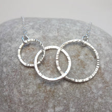 Load image into Gallery viewer, Sterling Silver Interlocking Circle Necklace - Shine On Shop