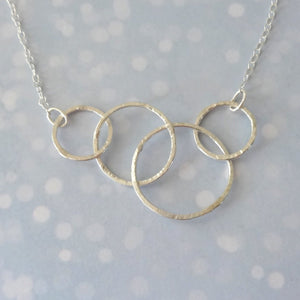 Sterling Silver Interlocking Circle Necklace - Shine On Shop