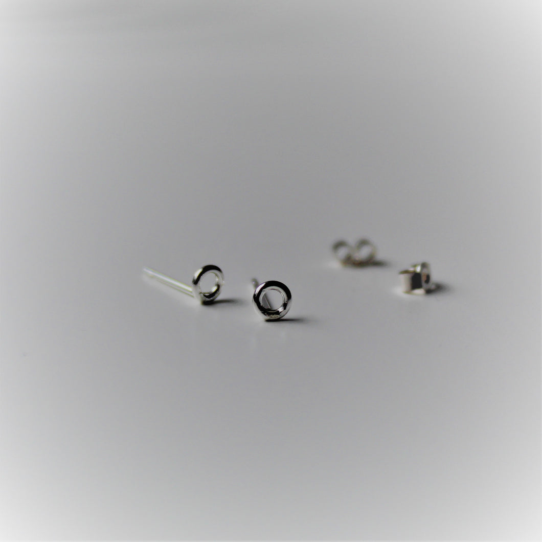Sterling-Silver-Open-Circle-Studs - Teeny-Tiny-Shinies - Shine-On