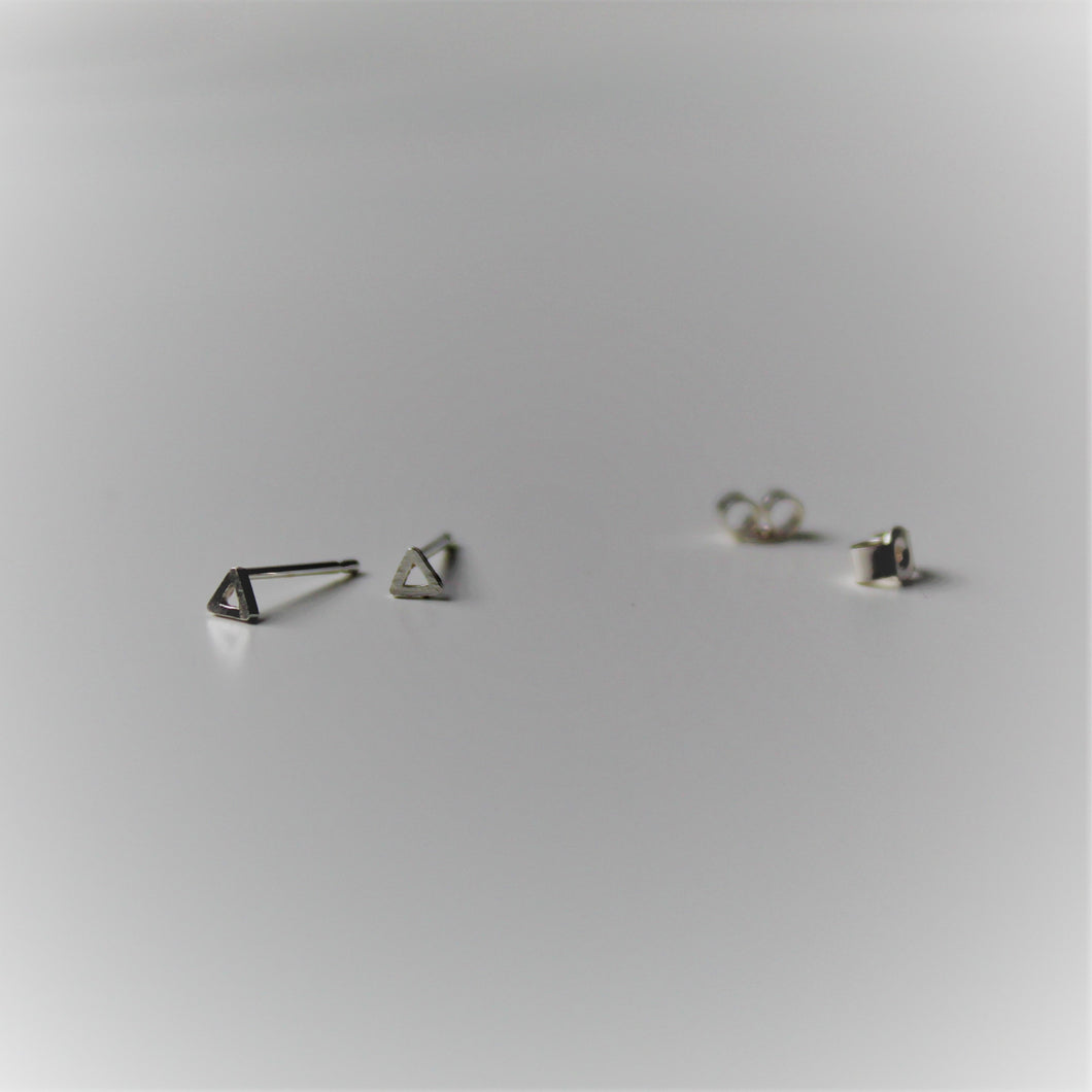 Sterling Silver Tiny Triangle Studs - Shine On Shop