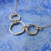 Load image into Gallery viewer, Sterling Silver Triple Hex Necklace - Shine On Shop