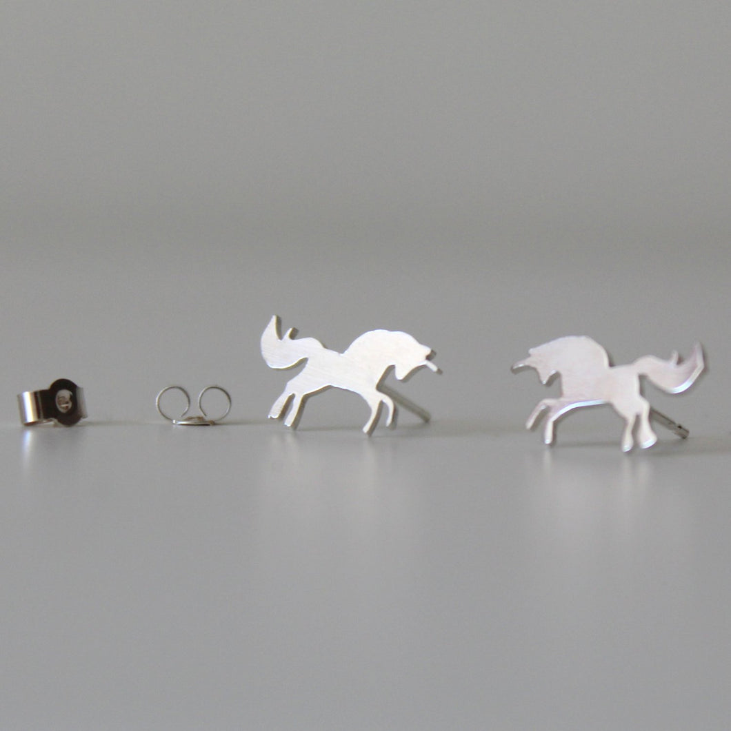 Sterling Silver Unicorn Studs - Shine On Shop
