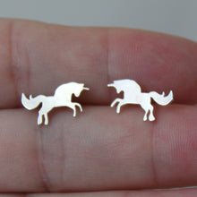 Load image into Gallery viewer, Sterling Silver Unicorn Studs - Shine On Shop