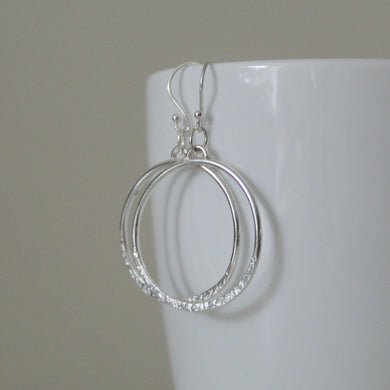 Eclipse Sterling Silver Hoop Earrings - Shine On Shop