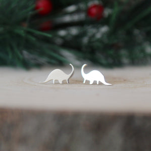 Sterling Silver Diplodocus Earrings - Shine On Shop
