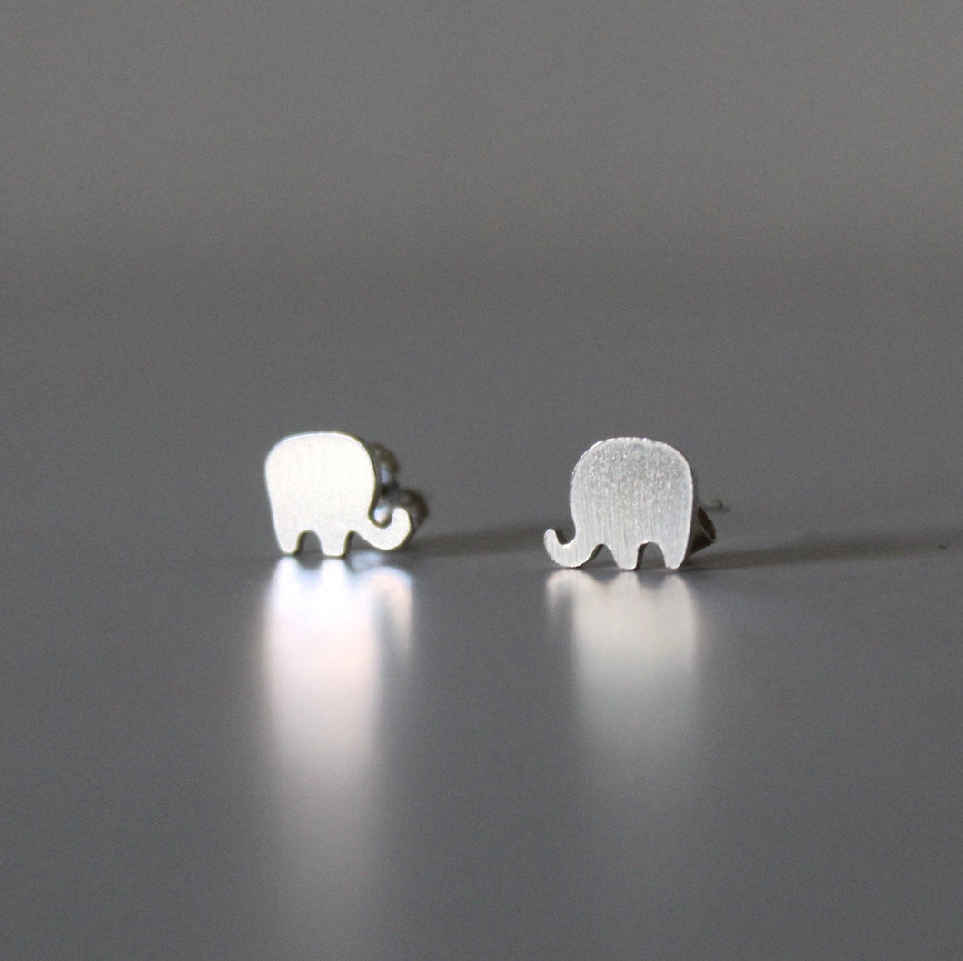 Sterling Silver Elephant Studs - Shine On Shop