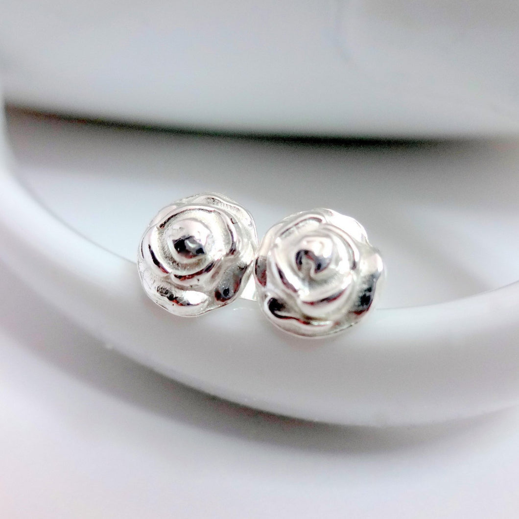 Dainty Sterling Silver Flower Studs - Shine On Shop