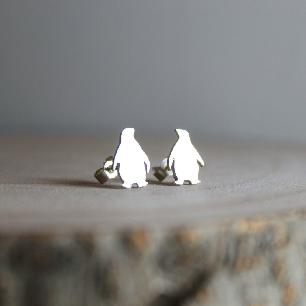 Tiny Sterling Silver Penguin Earrings - Shine On Shop