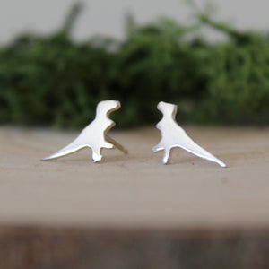 Sterling Silver Tyrannosaurus Rex Earrings - Shine On Shop