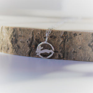 Mini Hare Necklace in Sterling Silver - Shine On Shop