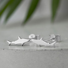 Load image into Gallery viewer, Tiny Sterling Silver Shark Studs - Shine On