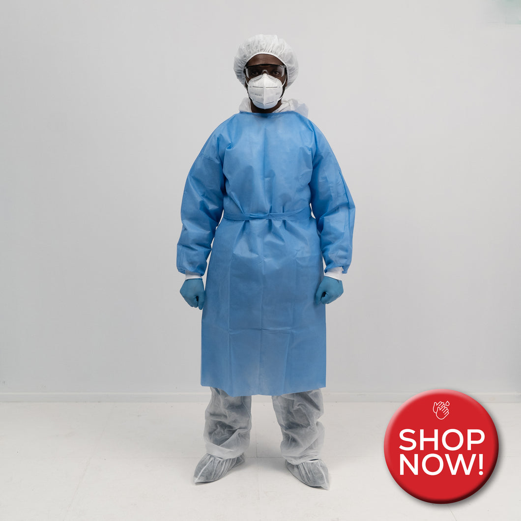 Isolation Gown - Disposable - Spunbond - 40 GSM