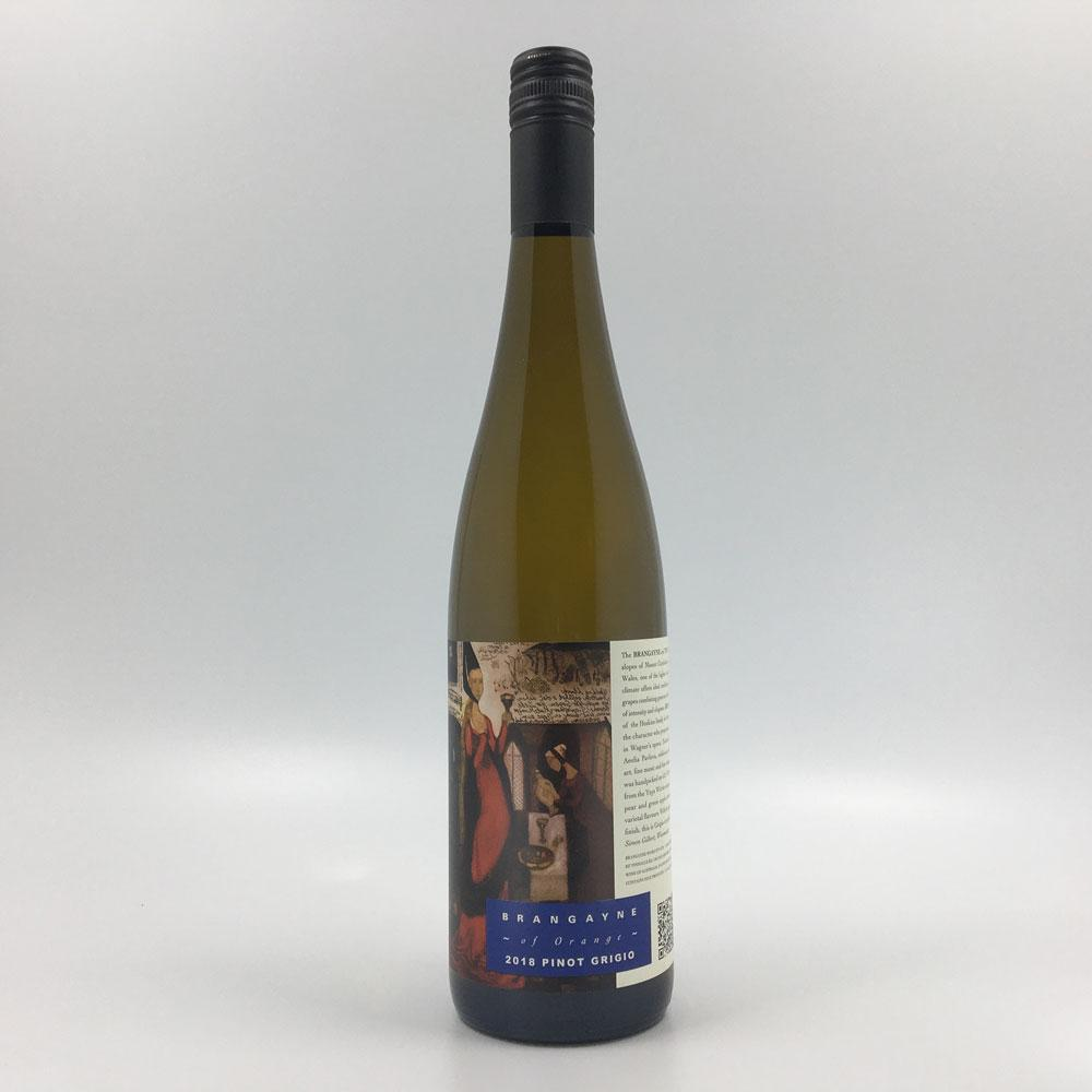 bottle of brangayne pinot grigio 2019 wine