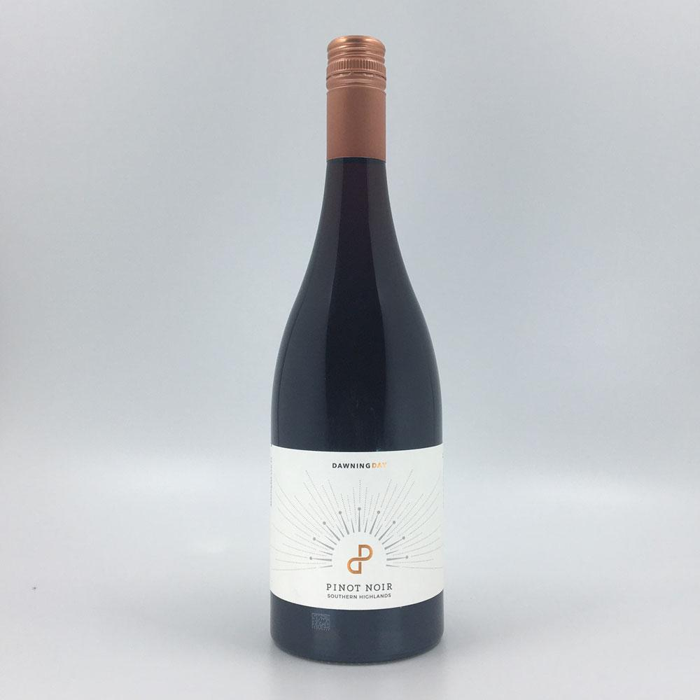 dawning day pinot noir 2019 red wine bottle