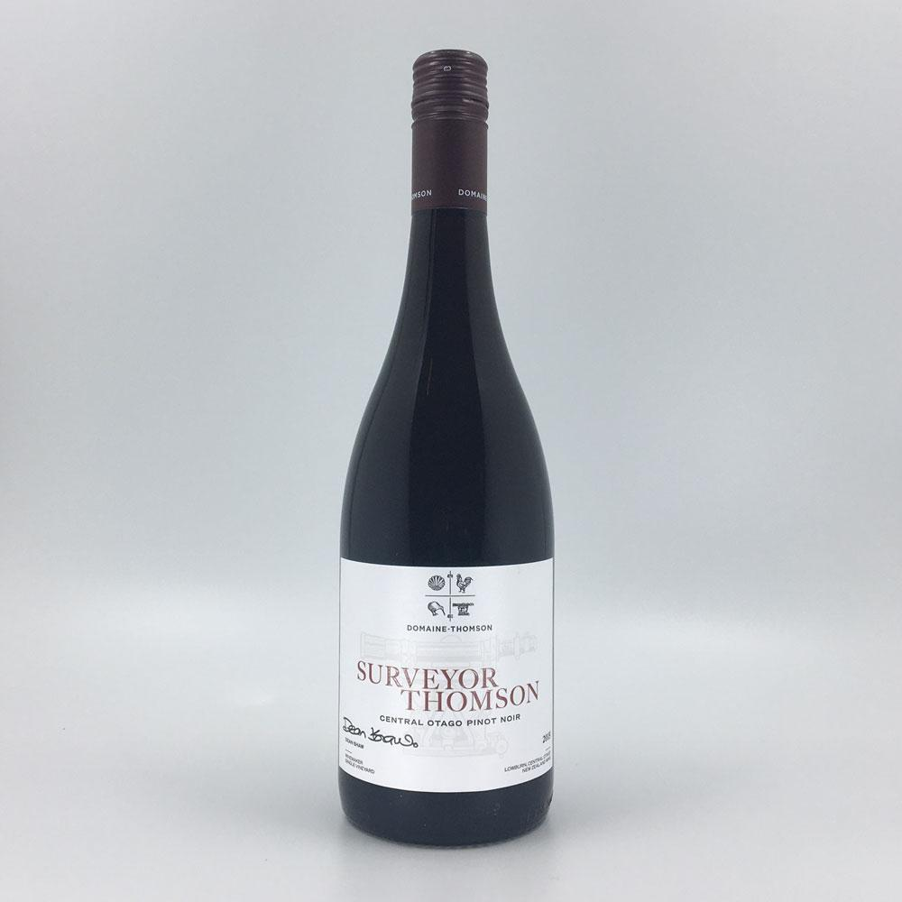 bottle of DOMAINE THOMSON 'Surveyor Thomson' PINOT NOIR 2015 Red Wine Cultivate Local