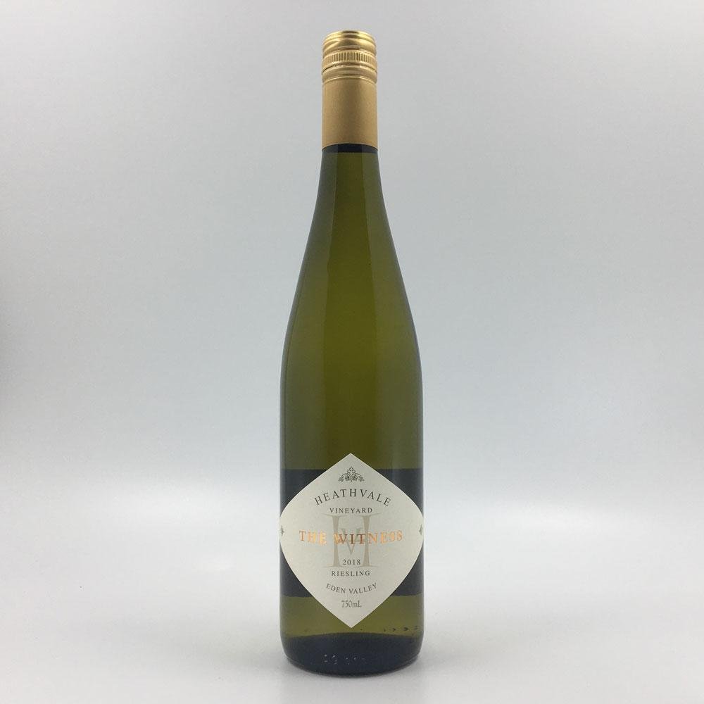 bottle of HEATHVALE 'The Witness' RIESLING 2018 White Wine Cultivate Local