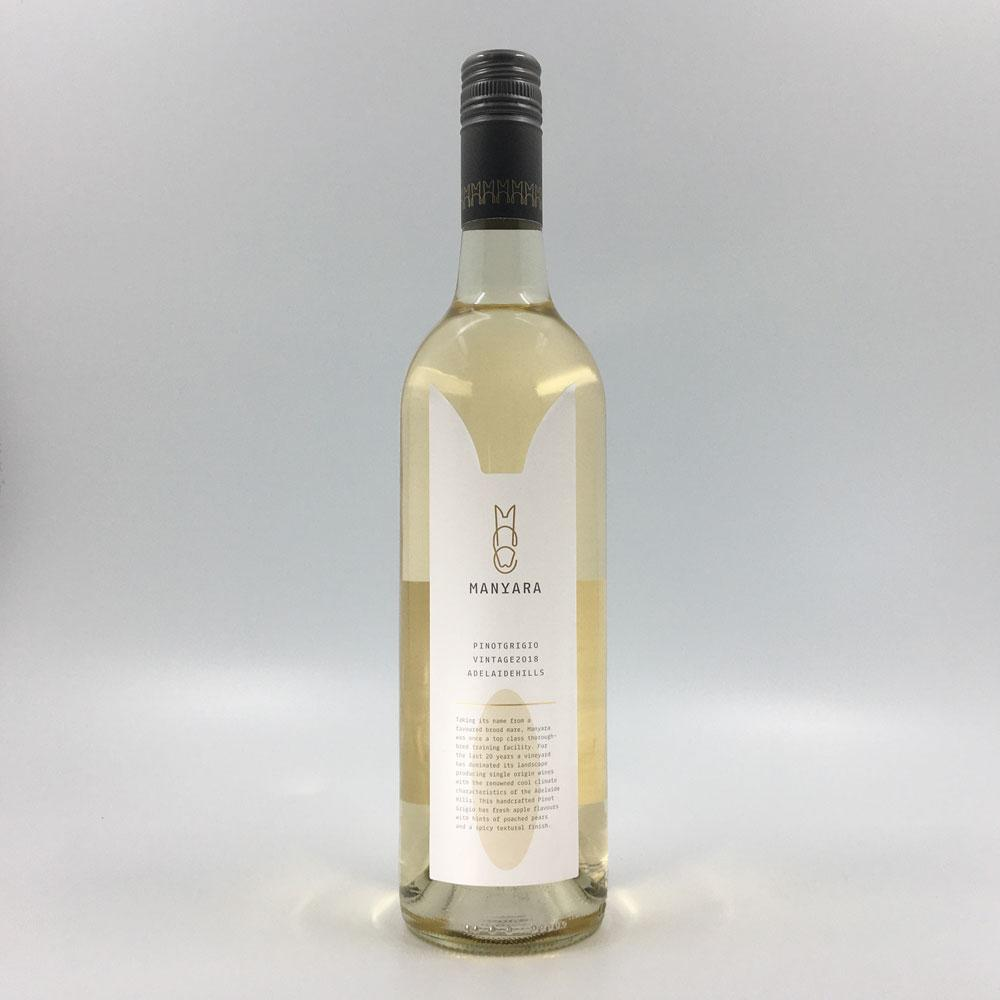 bottle of MANYARA PINOT GRIGIO 2018 White Wine Cultivate Local