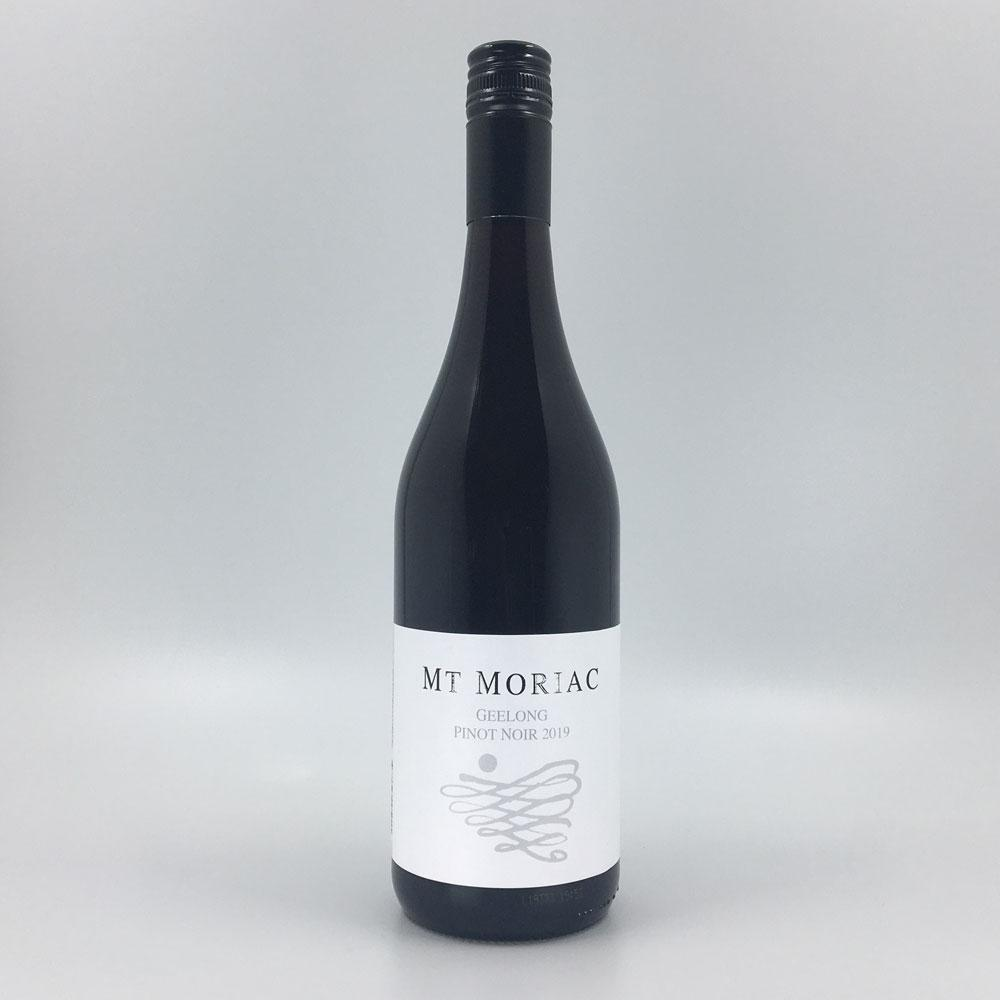 bottle of Mt MORIAC PINOT NOIR 2019 Red Wine Cultivate Local