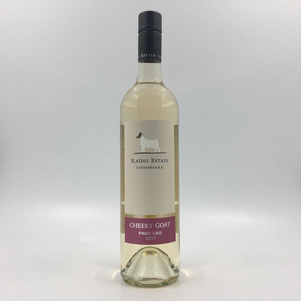 bottle of RAIDIS ESTATE 'Cheeky Goat' PINOT GRIS 2019 White Wine Cultivate Local