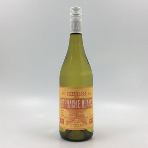 bottle of ricca terra grenache blanc 2019 white wine from cultivate local