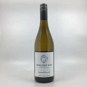 bottle of shelter bay sauvignon blanc 2019 white wine Cultivate Local